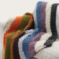 Bernat - Seed Stitch Blanket in Mega Bulky  (downloadable PDF)