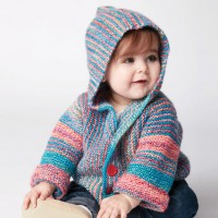 Bernat - Show Your Stripes Knit Jacket in Softee Baby (downloadable PDF)
