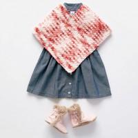 Bernat - Simple Crochet Baby Poncho in Baby Blanket Tiny (downloadable PDF)