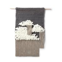 Bernat - Cloudy Sky Crochet Wall Hanging in Maker Big and Alize Blanket-EZ (downloadable PDF)