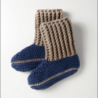 Bernat - Slipper Socks in Softee Chunky (downloadable PDF)
