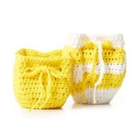 Bernat - Slouchy Crochet Plant Pot Cozy in Maker Outdoor (downloadable PDF)