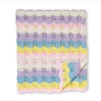 Bernat - Baby Ripples Knit Blanket in Softee Baby Stripes (downloadable PDF)