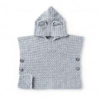 Bernat - Teddy Bear Crochet Poncho in Softee Baby (downloadable PDF)