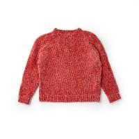 Bernat - Knit Top Down Pullover in Velvet (downloadable PDF)