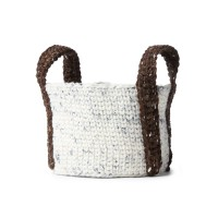 Bernat - Crochet Round Basket in Softee Chunky Tweeds (downloadable PDF)