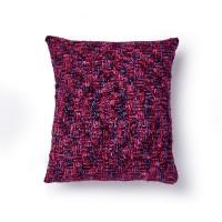 Bernat - Basketweave Crochet Pillow in Velvet (downloadable PDF)
