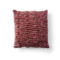 Bernat - Cozy Knit Cabled Pillow in Crushed Velvet (downloadable PDF)