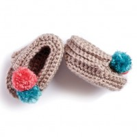 Bernat - Wee Crochet Moccasins in Softee Baby (downloadable PDF)