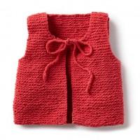 Bernat - Wee Knit Vest in Baby Blanket Tiny (downloadable PDF)