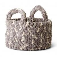 Bernat - Woven Look Crochet Basket in Bernat Blanket (downloadable PDF)