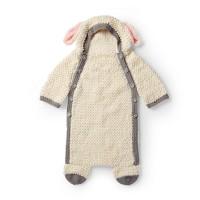 Bernat - Yawn the Sheep Crochet Snuggle Sack in Baby Blanket Tiny (downloadable PDF)