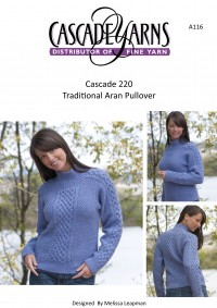 Cascade A116 - Traditional Aran Pullover in 220 (downloadable PDF)