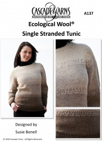 Cascade A137 - Single Stranded Tunic in Ecological Wool (downloadable PDF)