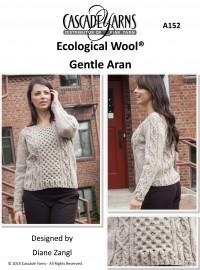 Cascade A152 - Gentle Aran Pullover in Ecological Wool (downloadable PDF)