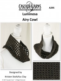 Cascade A295 - Airy Cowl in Luminosa (downloadable PDF)