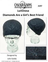 Cascade A297 - Diamonds are a Girl's Best Friend Hat in Luminosa (downloadable PDF)