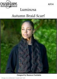 Cascade A314 - Autumn Braid Scarf in Luminosa (downloadable PDF)