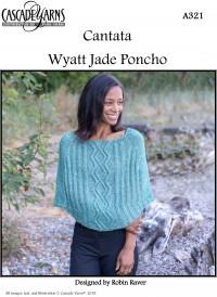 Cascade A321 - Wyatt Jade Poncho in Cantanta (downloadable PDF)