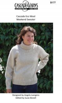 Cascade B177 - Weekend Sweater in Ecological Wool (downloadable PDF)
