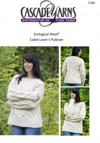 Cascade C186 - Cable Lover's Pullover in Ecological Wool (downloadable PDF)