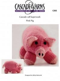 Cascade C202 - Pink Pig in 128 Superwash (downloadable PDF)