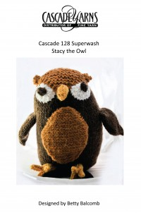 Cascade C203 - Stacy the Owl in 128 Superwash (downloadable PDF)