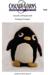 Cascade C204 - Penelope Penguin in 128 Superwash (downloadable PDF)
