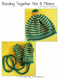Cascade C242 - Banding Together Hat & Mittens in 128 Superwash (downloadable PDF)