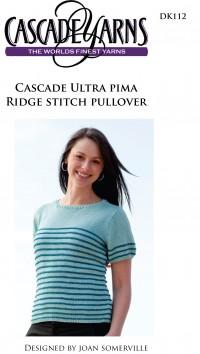 Cascade DK112 - Ridge Stitch Pullover in Ultra Pima (downloadable PDF)
