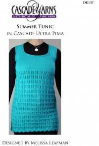 Cascade DK137 - Summer Tunic in Ultra Pima (downloadable PDF)
