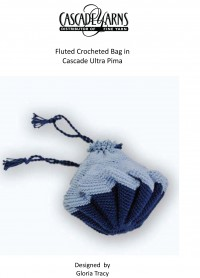 Cascade DK142 - Fluted Crocheted Bag in Ultra Pima (downloadable PDF)
