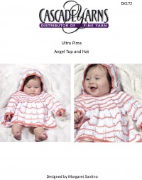 Cascade DK172 - Angel Top & Hat in Ultra Pima (downloadable PDF)