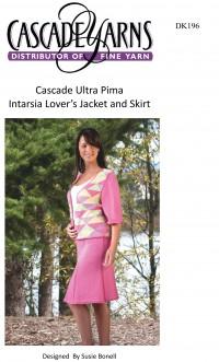 Cascade DK196 - Intarsia Lover's Jacket & Skirt in Ultra Pima (downloadable PDF)