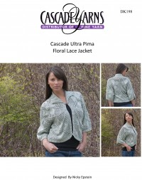 Cascade DK198  - Floral Lace Jacket in Ultra Pima (downloadable PDF)