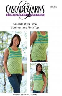 Cascade DK216 - Summertime Pima Top in Ultra Pima (downloadable PDF)