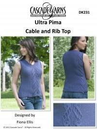 Cascade DK231 - Cable & Rib Top in Ultra Pima (downloadable PDF)