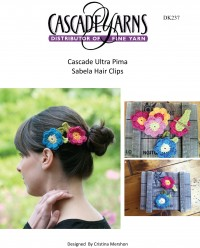 Cascade DK237 - Sabela Hair Clips in Ultra Pima (downloadable PDF)