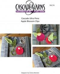 Cascade DK238 - Apple Blossom Clips in Ultra Pima (downloadable PDF)