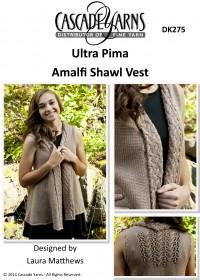 Cascade DK275 - Amalfi Shawl Vest in Ultra Pima (downloadable PDF)