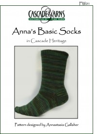 Cascade FW01 - Anna's Basic Socks in Heritage Paints (downloadable PDF)