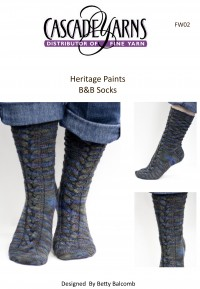 Cascade FW02 - B&B Socks in Heritage Paints (downloadable PDF)