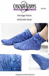 Cascade FW106 - Artichoke Socks in Heritage Paints (downloadable PDF)