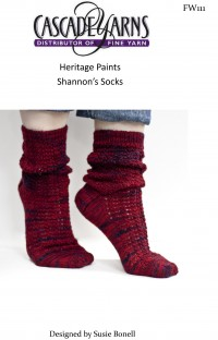 Cascade FW111 - Shannon's Socks in Heritage Paints (downloadable PDF)