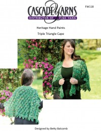 Cascade FW118 - Triple Triangle Cape in Heritage Paints (downloadable PDF)