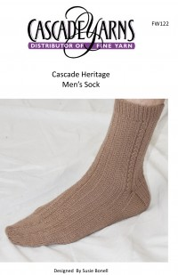 Cascade FW122 - Men's Socks in Heritage (downloadable PDF)