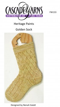 Cascade FW133 - Golden Socks in Heritage Paints (downloadable PDF)