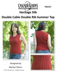Cascade FW157 - Double Cable Double Rib Summer Top in Heritage Silk (downloadable PDF)
