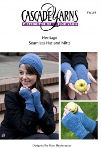 Cascade FW164 - Seamless Hat & Mitts in Heritage (downloadable PDF)