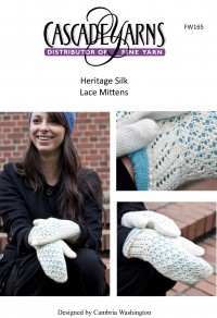 Cascade FW165 - Lace Mittens in Heriage Silk (downloadable PDF)